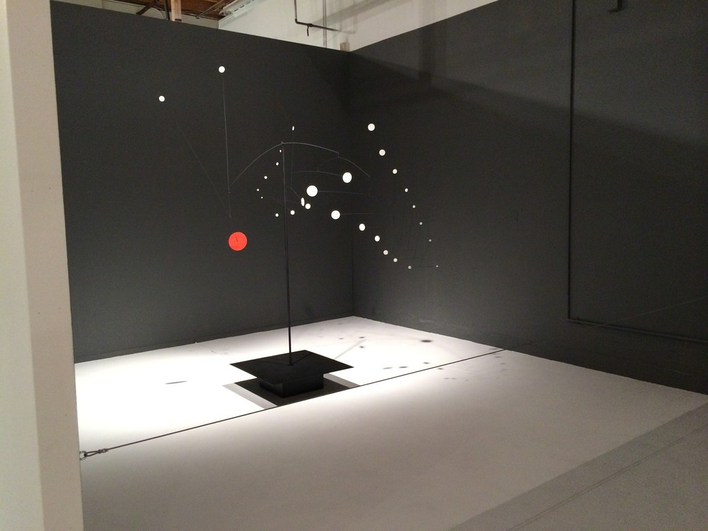 "Installation view, ""Alexander Calder: The Art of Invention,"" Pace, Menlo Park, 2014."