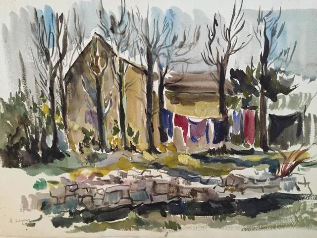 Katherine Librowicz, 'Village Laundry Laying', 20th Century, Lions Gallery