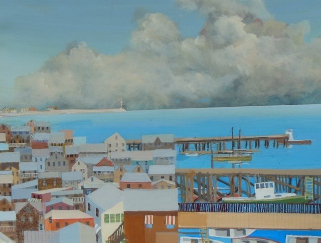 , 'Town by the Sea,' 2015, Bowersock Gallery
