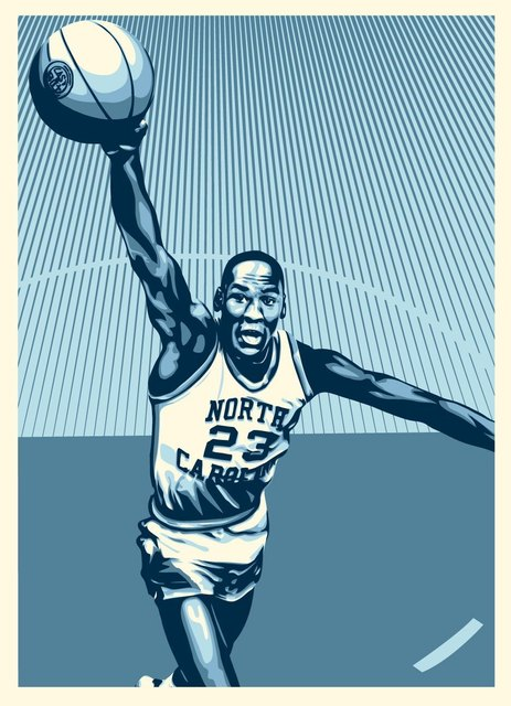 Shepard Fairey (OBEY), 'Michael Jordan - Hall of Fame', 2009, AYNAC Gallery