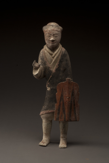 'Infantryman figurine', 206 BC -9 AD, Musée national des arts asiatiques - Guimet