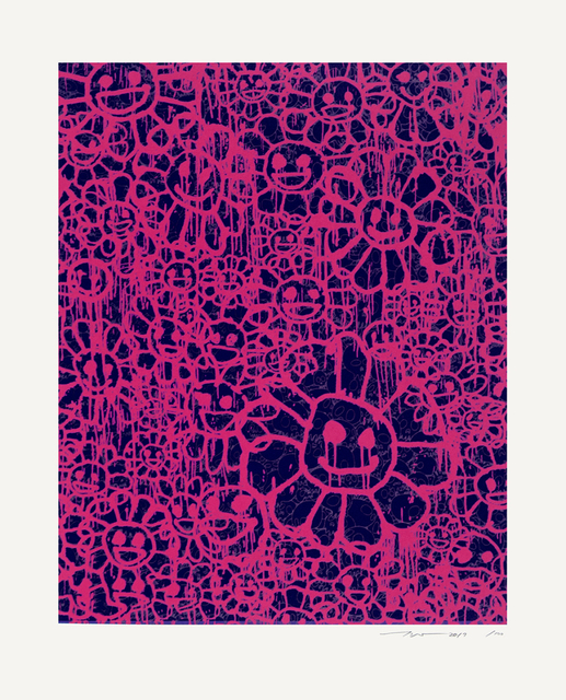 Takashi Murakami, 'Madsaki Flowers B (pink)', 2017, Print, Silkscreen on paper, Fineart Oslo