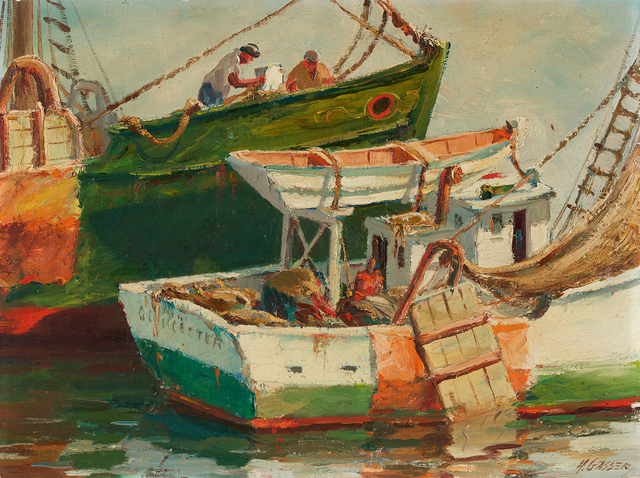 , 'Getting Ready, Gloucester Fishing Boat,' , Questroyal Fine Art