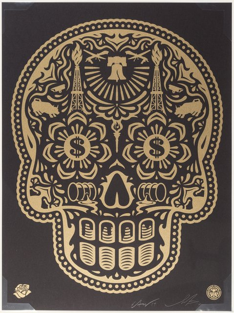 Shepard Fairey, 'Power & Glory Day of the Dead Skull (Gold)', 2014, Heritage Auctions
