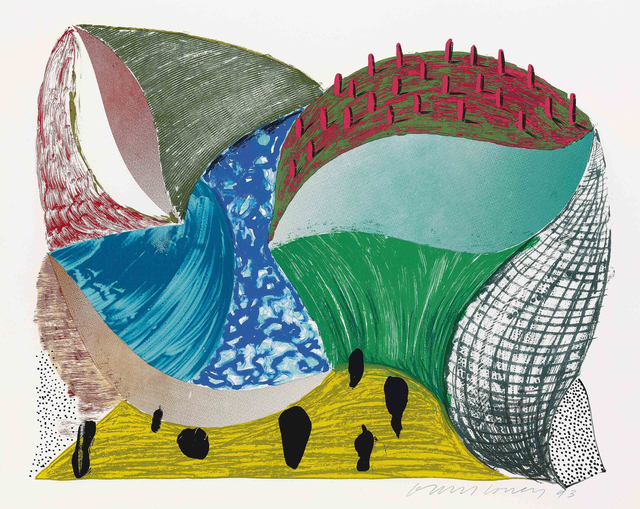 David Hockney, 'Gorge d'Incre from Some More New Prints', 1993, Zeit Contemporary Art