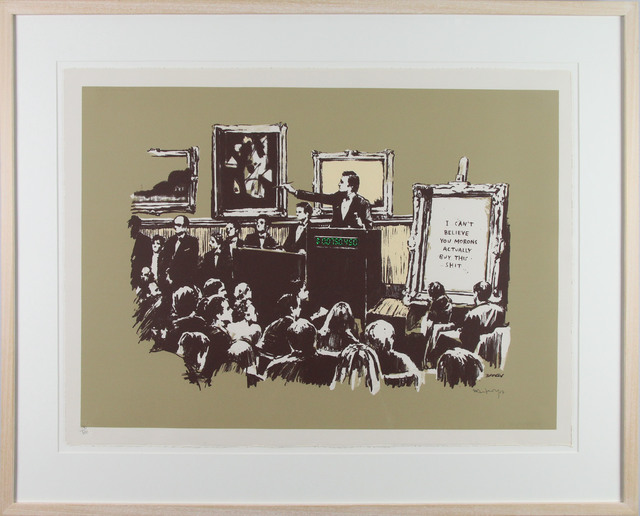 Banksy, 'Morons (Sepia)', 2007, Gormleys Fine Art