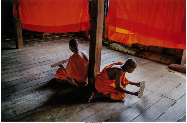 Steve McCurry, 'Novice Monks Studying, Monastery, Angkor Wat', 1999, Heritage Auctions