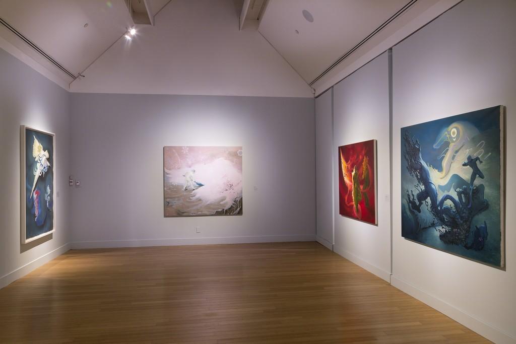 Inka Essenhigh: A Fine Line at the Virginia Museum of Contemporary Art. Photograph by Echard Wheeler