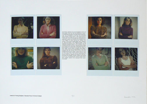, 'Lessons in Posing Subjects: Standard Pose #7 (Hands Touching),' 1982, Rhona Hoffman Gallery