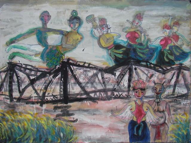 , 'Fairies on Long Bien Bridge,' 2013, Art Vietnam Gallery