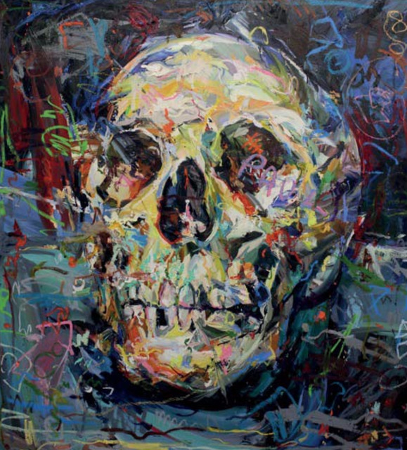 Paul Wright, 'Bonehead (Skull) ', 2017, Painting, Oil on linen, Maddox Gallery