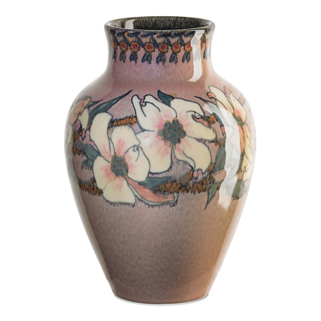 Sara Sax, 'Rookwood, Ivory Jewel Porcelain Vase With Dogwood Blossoms (Uncrazed), Cincinnati, OH', 1927, Rago/Wright