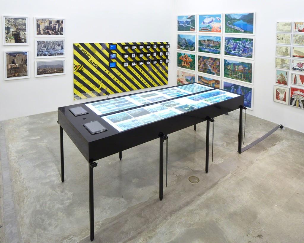 Reconstructing Life, Crow's Eye View: The Korean Peninsula; Tina Kim Gallery, NY, 2015. Photo by Jeremy Haik