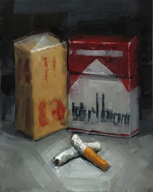 Tom Giesler, 'Health Study 38: butter box butts', 2020, Painting, Oil on panel, McVarish Gallery