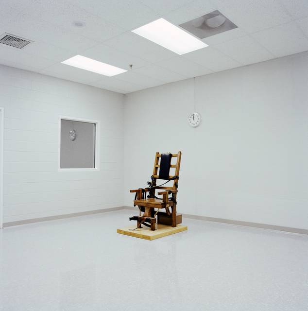 , 'Electric Chair, Greensville Correctional Facility, Greensville, VA,' 1991, George Eastman Museum