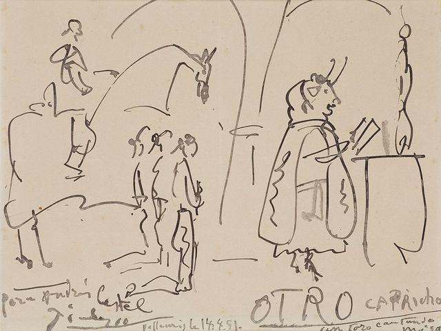 Pablo Picasso, 'Otro capricho. Un toro cantando misa', 1951, Artur Ramon Art