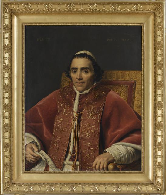 , 'Portrait du Pope Pius VII (Portrait of Pope Pie VII),' 1805, Château de Fontainebleau