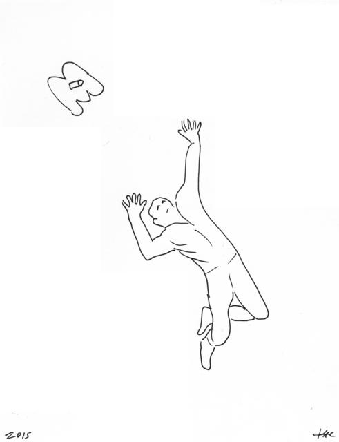 , 'Performance pour un astronaute, une paire de ciseaux et deux feuilles de papier #2,' 2017, Galerie Charlot