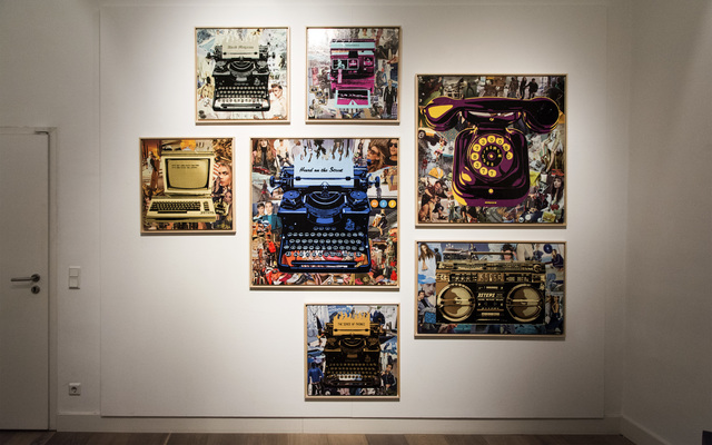 , 'Telephone, typewriter, personal computer, histograph installation,' , Gallery 2C for Art