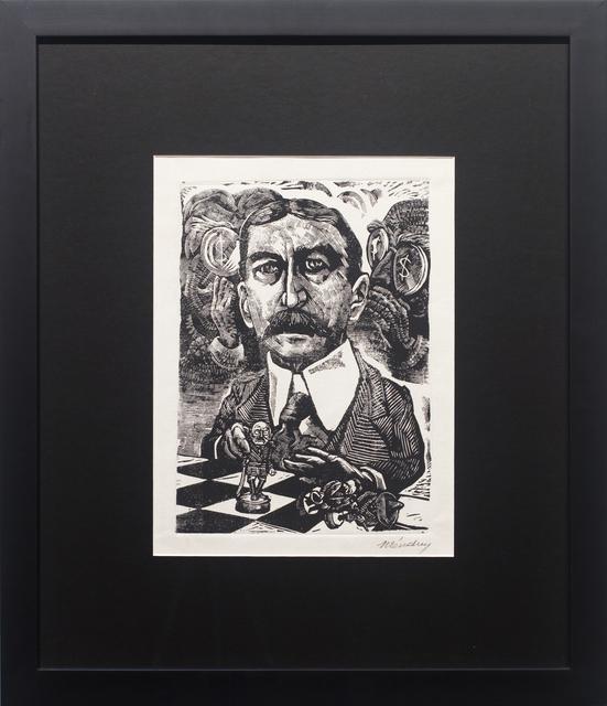 """Leopoldo Mendez, 'El Embajador Lane Wilson """"Arregla"""" el Conflicto', 1947, Print, Linocut, Hecho a Mano"""