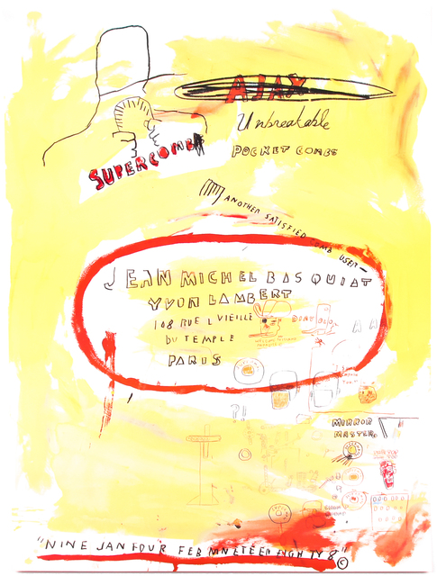 Jean-Michel Basquiat, 'SUPERCOMB', 1988, Silverback Gallery