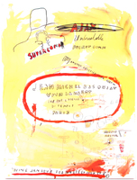 Jean-Michel Basquiat, SUPERCOMB (1st Printing from 1988)