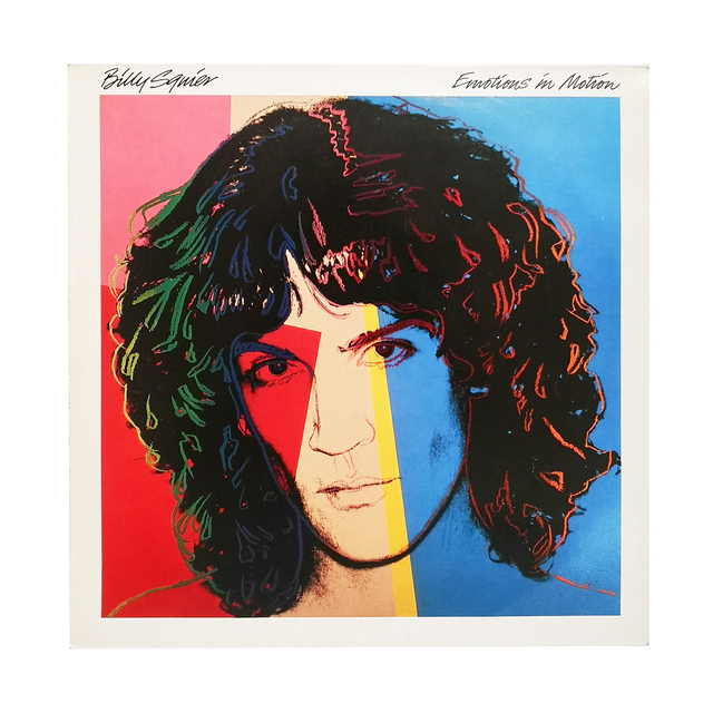 """Andy Warhol, 'Billy Squier / """"Emotions in Motion""""', 1982, Print, Offset print on vinyl sleeve with mention """"Cover painting by Andy Warhol"""" and vinyl record, NextStreet Gallery"""
