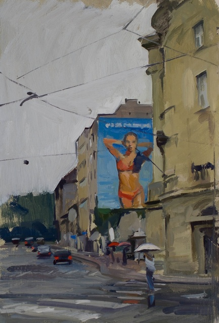 Marc Dalessio, 'Zagreb', 2015, Painting, Oil on panel, Grenning Gallery