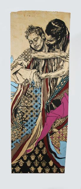 Swoon, '#132 Alixa and Naima AP', 2014, Anita Shapolsky Gallery