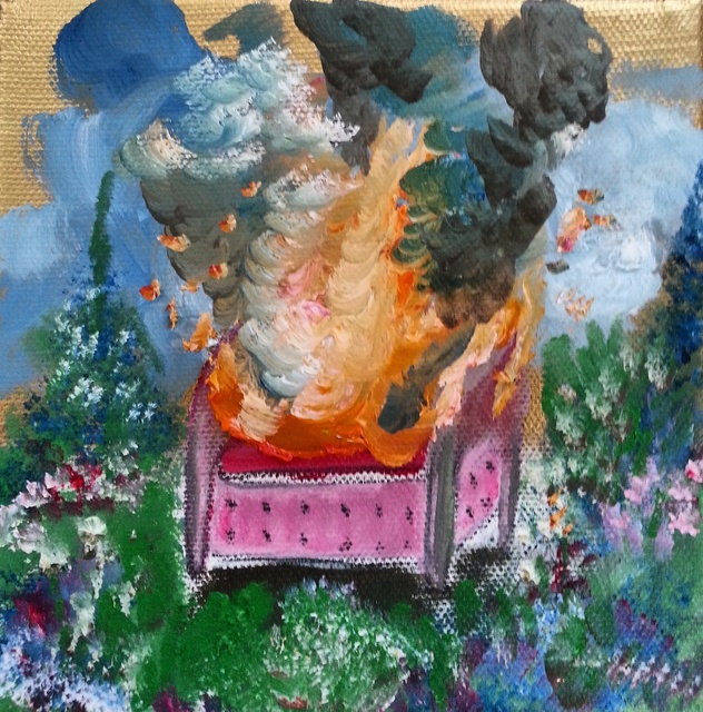 , 'Spontaneous Combustion in a Vintage Landscape,' 2015, Espacio 20/20