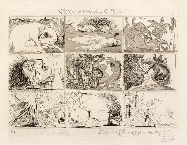 Pablo Picasso, 'Sueno y mentira de Franco (a group of 2)', 1937, Hindman