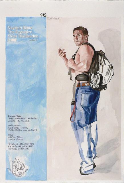 Jack Balas, 'NAYLAND BLAKE EXPULSION FROM THE GARDEN (BLUE) (Muse/Museum series)', 2008, William Havu Gallery