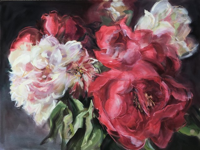 Jamie Evrard, 'Bouquet with Red Peonies', 2019, Bau-Xi Gallery