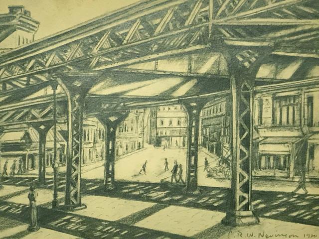 , 'Third Avenue, Elevated Railway,' 1920, MacConnal-Mason Gallery