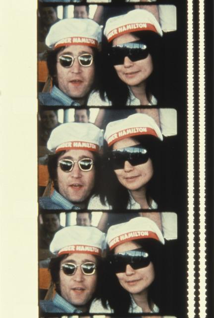 Jonas Mekas, 'John & Yoko on a cruise boat up the Hudson river July 7, 1971', 2013, Photography, Archival Photographic Print, Deborah Colton Gallery