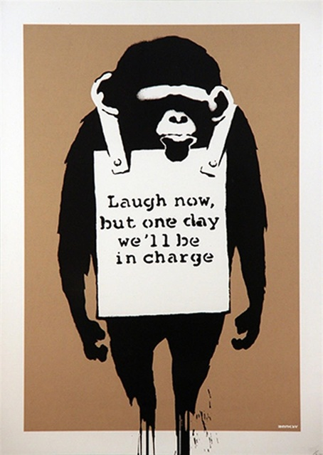 Banksy, 'Laugh Now (Unsigned)', 2004, Lougher Contemporary
