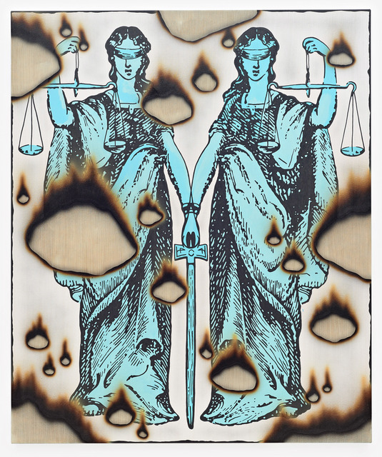 , 'twin justitia,' 2017, Jacob Lewis Gallery