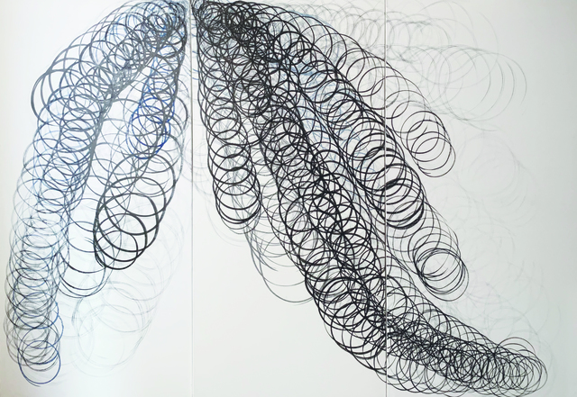 Masumi Sakagami, 'Wisteria (Ver. New York, NY)', 2018, Painting, Organic Pigments Sumi Ink on Canvas, Walter Wickiser Gallery