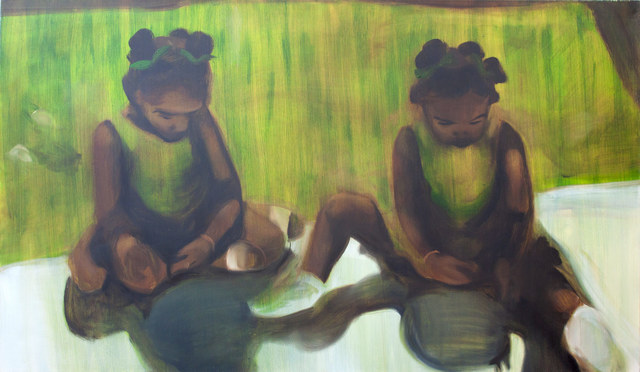 , 'Green Girls,' 2017, James Freeman Gallery