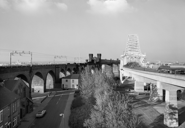 , 'Runcorn Bridges, Cheshire,' 1986, L. Parker Stephenson Photographs