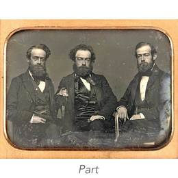Three half-plate portrait daguerreotypes.