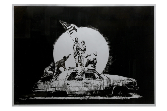 Banksy, 'Silver Flag', 2006, Chiswick Auctions