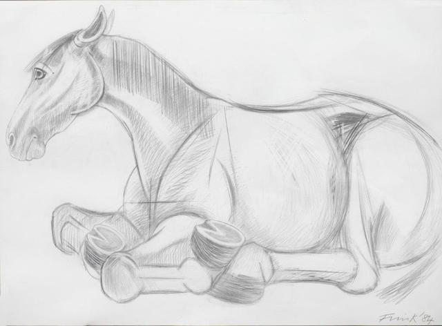 , 'Lying down Horse,' 1984, Christopher Kingzett Fine Art