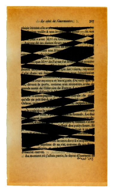 , 'Untitled pages drawings (page 307),' 2013, FRED.GIAMPIETRO Gallery