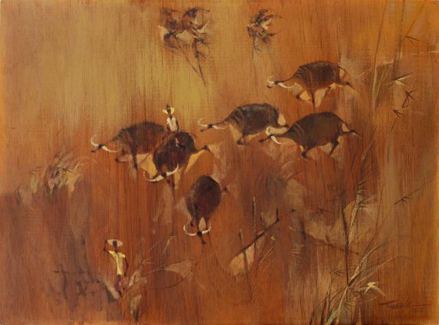 , 'Landscape with Carabaos and Peasants,' 1958, Galería Nudo