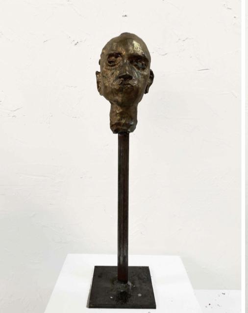 , 'Bronze Head #3,' 2019, Pan American Art Projects