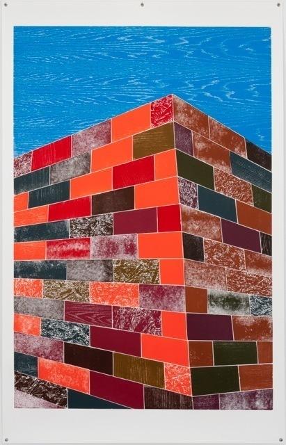 , 'Woodcuts (Brick Wall),' 2011, Bernier/Eliades