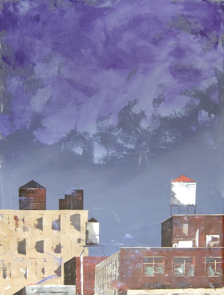Preludio de tormenta/Storm prelude. Year 2018. Acrylic on canvas, 146  x 89 cm/57,5´x 35´ Artist: Paz Aymerich