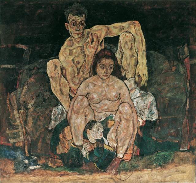 , 'The Family (Self Portrait),' 1918, The National Gallery, London