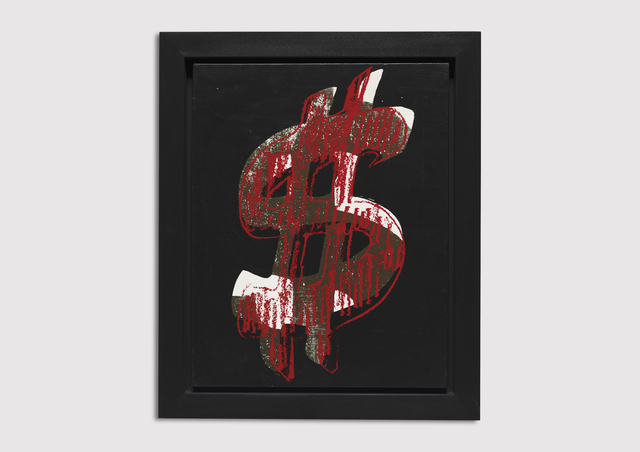 Andy Warhol, 'Dollar sign', 1981, Painting, Acrylic and silkscreen ink on canvas, Galerie Von Vertes